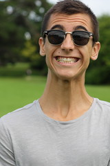 Giraffe. (maxwell.dunn) Tags: ireland sunglasses gum neck joel killarney giraffe veins wayfarers frazee