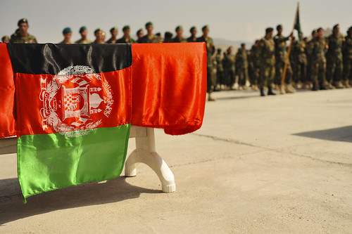 kabul afghanistan flag. The Afghan flag is displayed