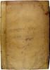 Frontbinding of 'Quaestiones super XII libros Metaphysicae Aristotelis'. Sp Coll BC2-x.15.
