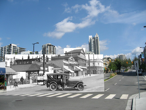 100 Block of Lonsdale Avenue Then & Now (1925 and 2010)