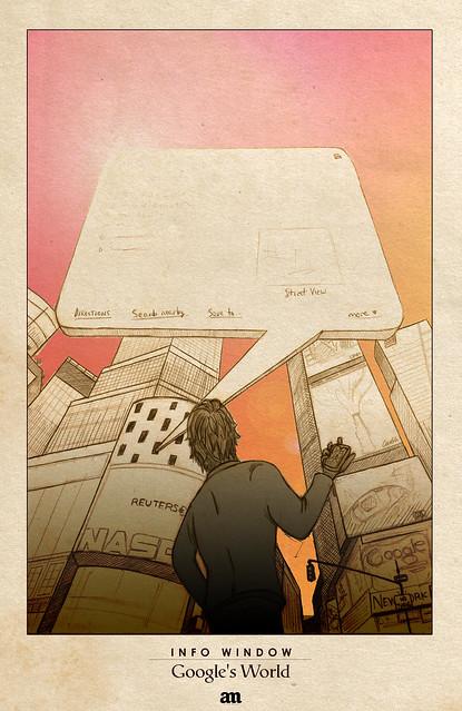 """Info Window """"Google's World"""" by Alejo Malia"""