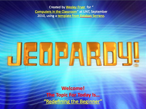 Jeopardy! Redefinining the Beginner