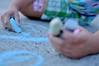 Chalking (glenrichards) Tags: york playing cute colors girl 35mm fun chalk kid nikon colorful child play adorable games sidewalk pa f18 playful chalking d90