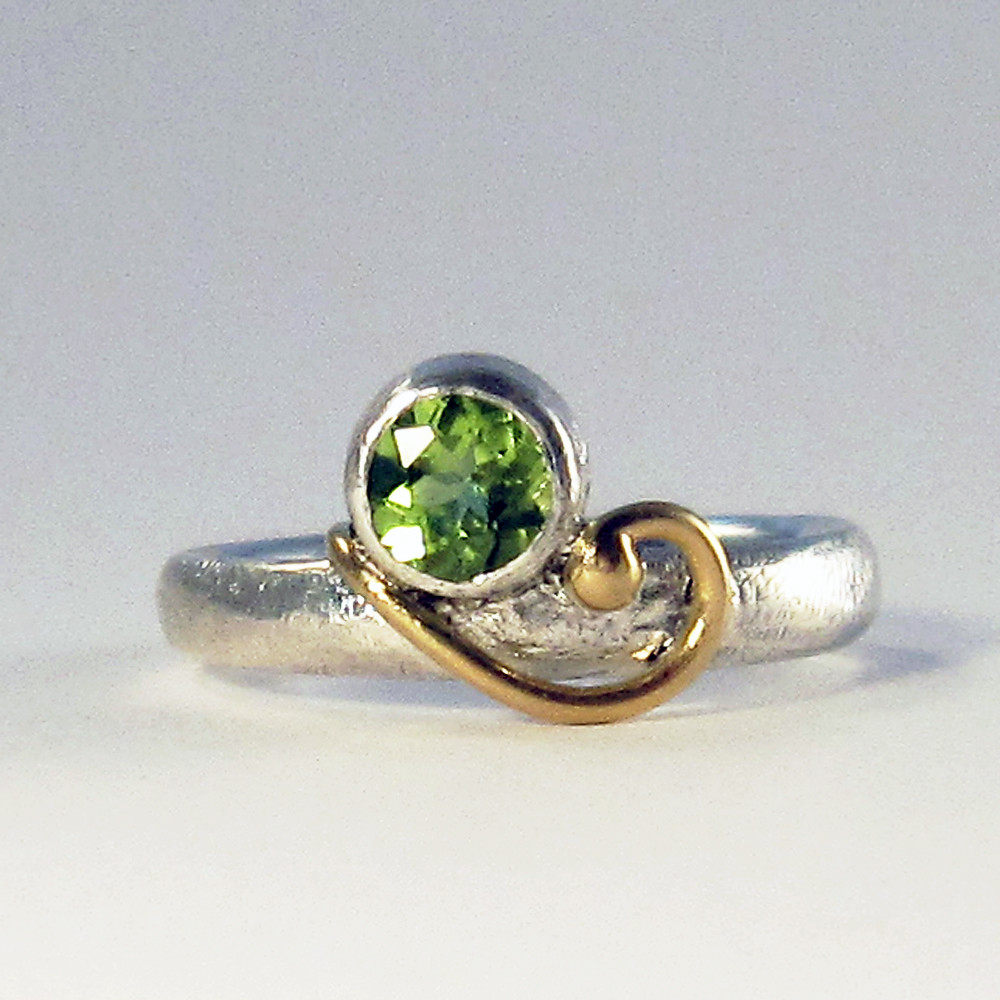 Peridot and golden curl