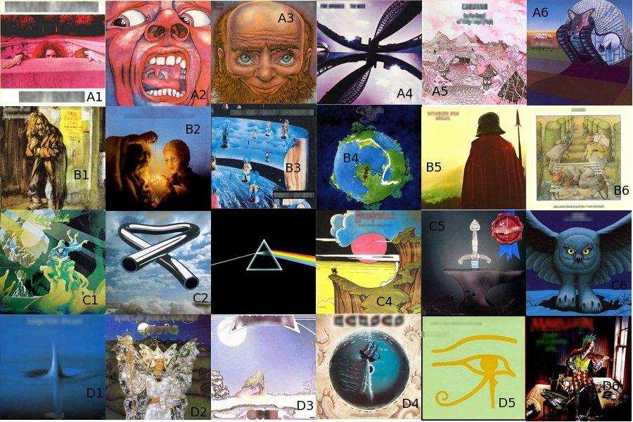 Prog Album Covers Quiz By Mathmethman