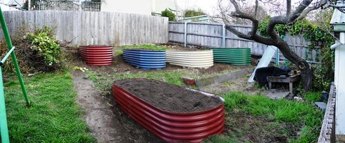 Raised Garden Beds in Place!