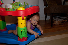 Homage-to-an-Exersaucer (meanjean) Tags: family exersaucer nikond200 purged