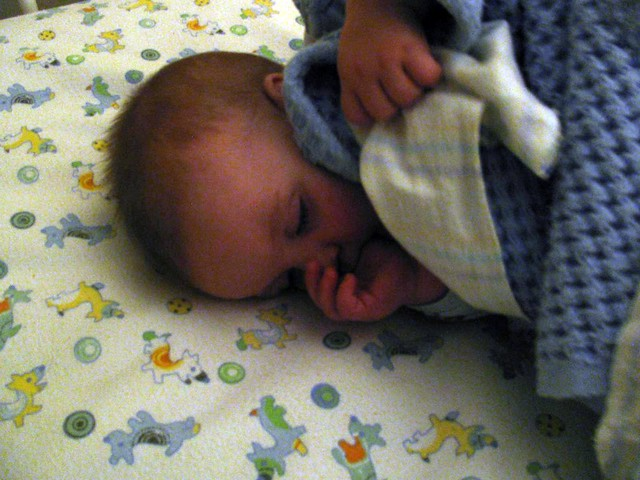 @babybanff and his flannel sheets.