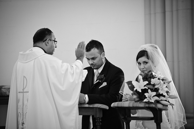 Laura and Elvis's Wedding-Blessing from the priest