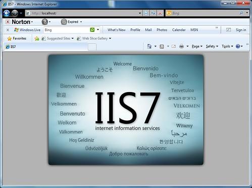 Testing IIS installation