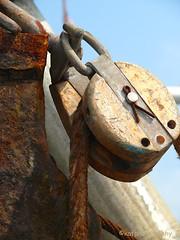 Nautical Torque (kafphotography) Tags: wood metal boat fishing rust capecod rope nautical torque pulley bigmomma thechallengegame challengegamewinner challengefactorywinner thechallengefactory thumbsupunanimous herowinner storybookchallengewinner