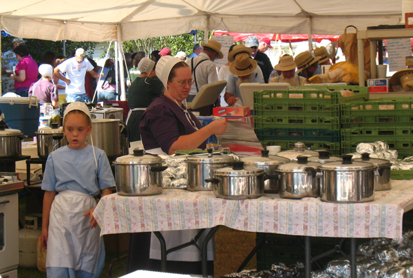 amish food tent