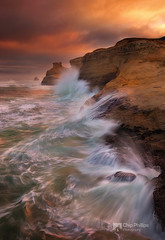 Crashing Sea Cape Kiwanda (Chip Phillips) Tags: ocean city sea oregon sunrise coast pacific cape rough crashing kiwanda thepowerofnow
