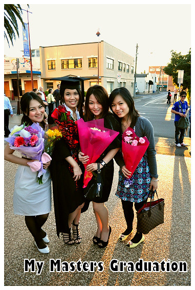 My Masters Graduation 2010: With Vera, Veron and Belinda