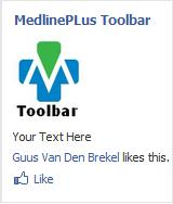 MedlinePlus Toolbar facebook add