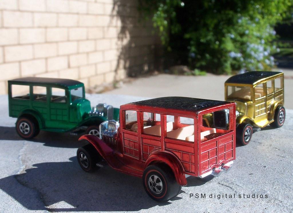 1968 Mattel Hot Wheels Classic 31 Woody Trio