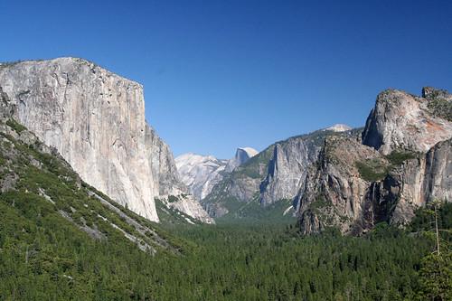 driving into Yosemite...