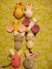 Los 8 juntitos! (AmiRomi) Tags: cute bunny chicken cat butterfly conejo crochet gato amigurumi mariposa pollito cottonyarn