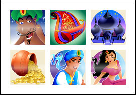 free Magic Carpet slot game symbols
