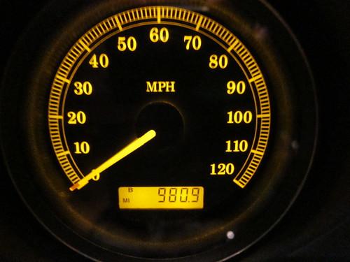 Le compteur après 3 jours de bonheur: 980,9 Miles