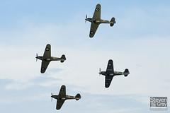 G-BKTH & G-HHII & G-HUPW & G-HURI - R4118 & Z5140 & Z7015 & BE505 - Hawker Hurricane Mk1 Mk1B Mk2b & Sea Hurricane - Duxford - 100905 - Steven Gray - IMG_7274