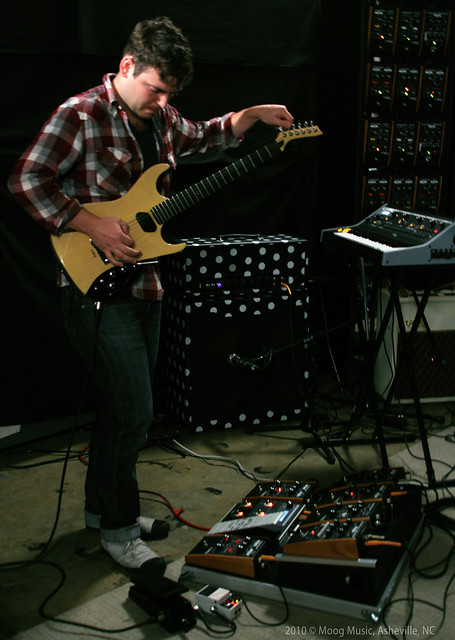 Ted of Tegan & Sara @ Moog Sound Lab