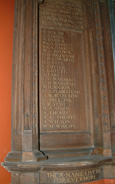 St Saviour - The Great War Roll of Honour by Moominpappa06