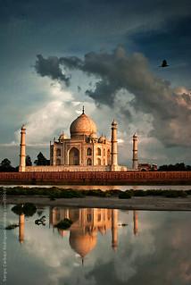 Taj Mahal - Sunset (Explored)