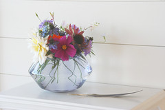 Autumn flowers from the garden (absoluutly) Tags: dahlia flowers autumn floral feather livingroom vase decor arrangement cosmos styling