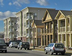 a variety of housing options enables a more complete community (Stapleton, Denver, by: US EPA Smart Growth)