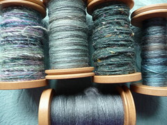 spinning blue (and green, and purple)
