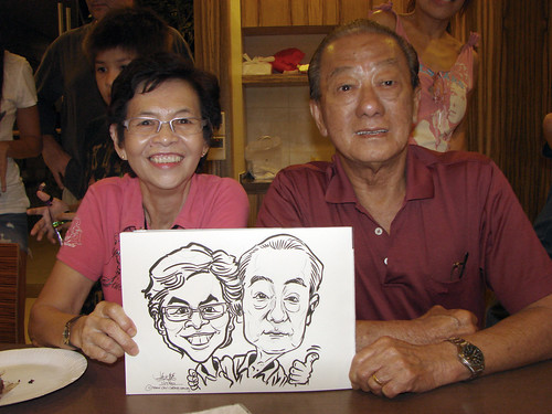 Caricature live sketching for birthday party 11092010 - 10