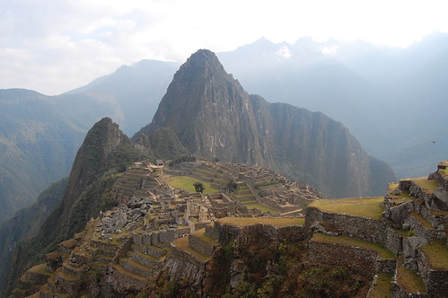 Machu Picchu from the upper terraces