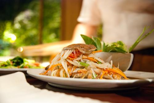 生螃蟹+泰式青木瓜沙拉