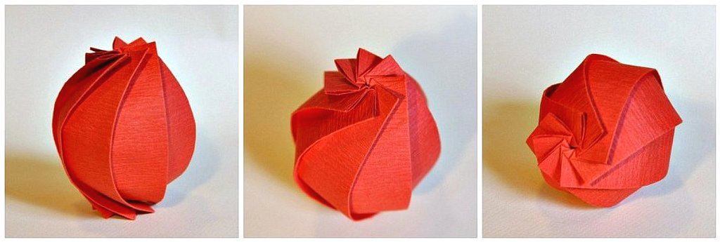 8 Pleats Sphere Rebecccaravelry Tags Origami Mitani Junmitani