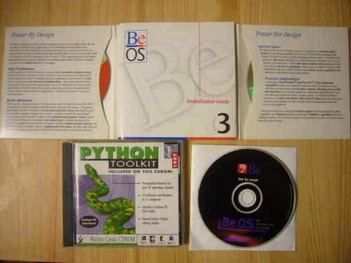 Python Toolkit CDROM & BeOS CDROM
