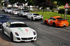 599 GTO with some friends (Jan L. | JLPhotography.) Tags: auto fall car italian nikon ferrari exotic gto jl rare scuderia supercar sportscar 2010 combo nordschleife carspotting 599 d90 hanseat scuderiahanseat nrbrugring