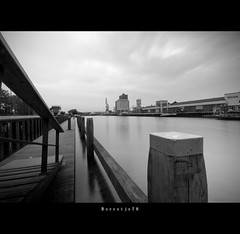First Long Exposure  (Explored) (Borretje76) Tags: wood longexposure sky bw white haven black water netherlands dutch stairs grey iso100 dock harbour sony sigma f22 kanal kanaal 1020mm enschede tryout twente fader lcw explored aanlegsteiger dslra300 sonya300 gupr borretje76 lcwfadermark2 lcwfader