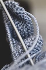 Knit Two (breakbeat) Tags: life macro wool still knitting dof knit objects yarn needle sp di tamron 90mm f28