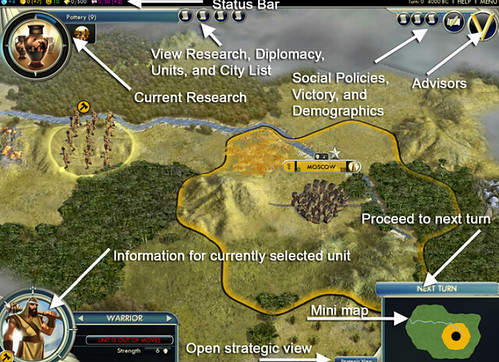 Civilization V Interface
