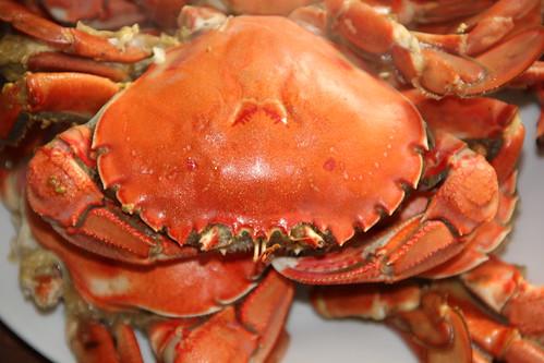 刚出锅的大海螃蟹