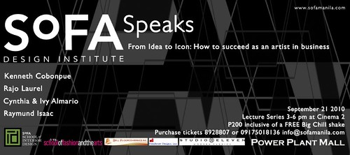 sofa speaks flyer with logos