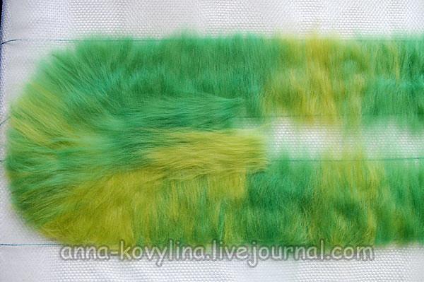 Фото мастер-класс по валянию шарфа с воланами (капустного шарфа)., капустный шарфик, войлочный шарф, валяние шарфа, мастер-класс по валянию шарфа, войлочные воланы