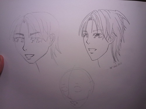 Manga Boy's Face (3/4 View)