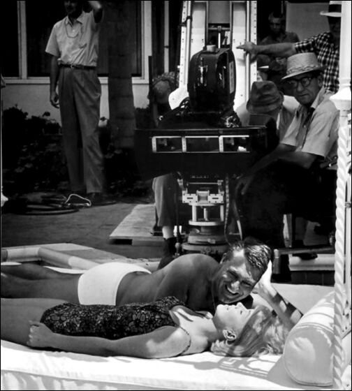 Cary and Doris on the set of That Touch of Mink