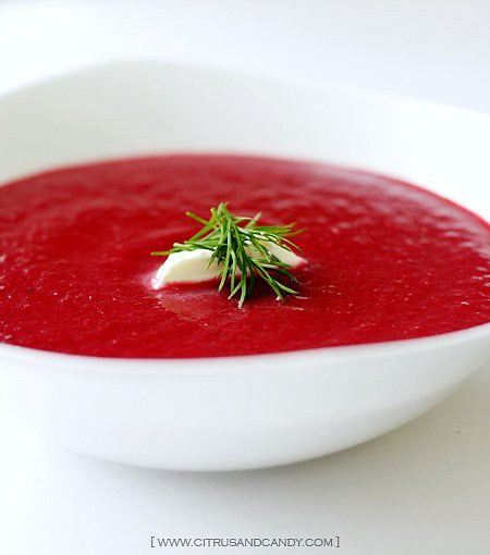 ... with thyme lemon and creme fraiche recipes beet soup with thyme lemon
