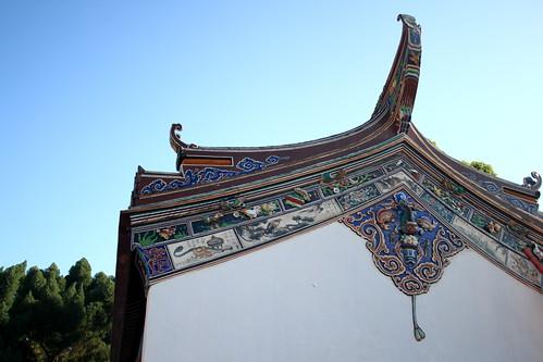 The roof of Poh San Teng Temple, Melaka Malaysia