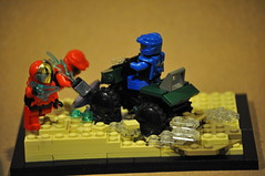 "LEGO Halo 3 ""Baseball"" Vignette (Vengeance of Lego) Tags: blue red 2 3 1 lego 5 4 contest halo v vs reach entry multiplayer mongoose verse odst"
