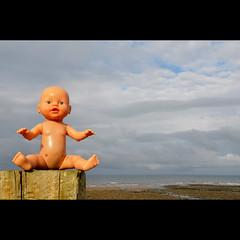 Feaky Flotsam #3 (Dave-Mann) Tags: uk sea beach toy seaside doll blueeyes lakedistrict freaky cumbria flotsam stbees 18200mm nikond300s