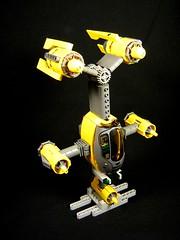 'Benedict'  Vertical Starfighter (Proudlove) Tags: lego space benedict verticalstarfighter creationsforcharity2010